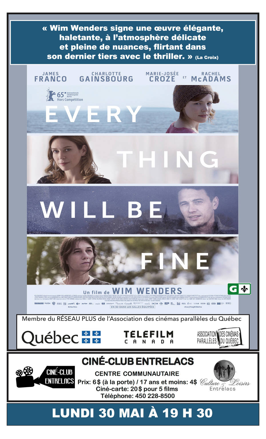 Ciné-Club : Every thing will be fine