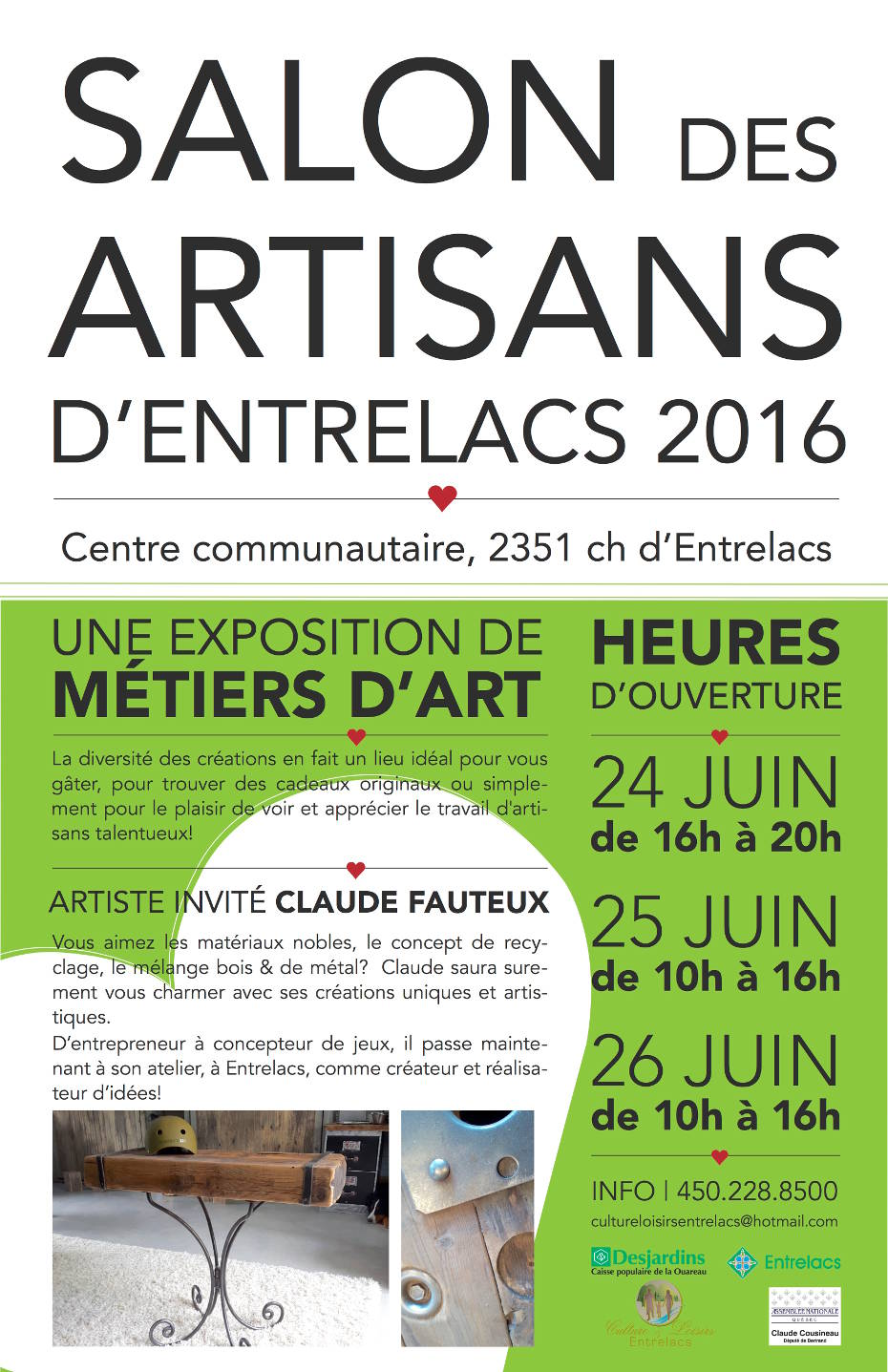 Salon des artisans municipalit d 39 entrelacs for Salon artisanal